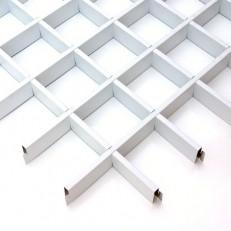 Потолок грильято Cesal Классический Эконом белый 50х50х40 мм