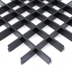 Потолок грильято Cesal Классический Эконом черный 100х100х40 мм