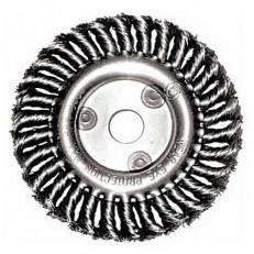 Щетка для УШМ Fit 39108 витая колесо 180 мм