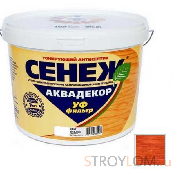 Антисептик тонирующий Сенеж Аквадекор 107 Каштан 0.9 кг