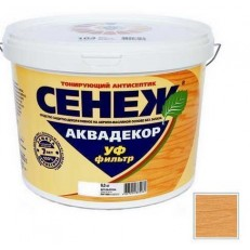 Антисептик тонирующий Сенеж Аквадекор 112 Дуб 2,5 кг