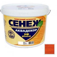 Антисептик тонирующий Сенеж Аквадекор 111 Тик 2,5 кг
