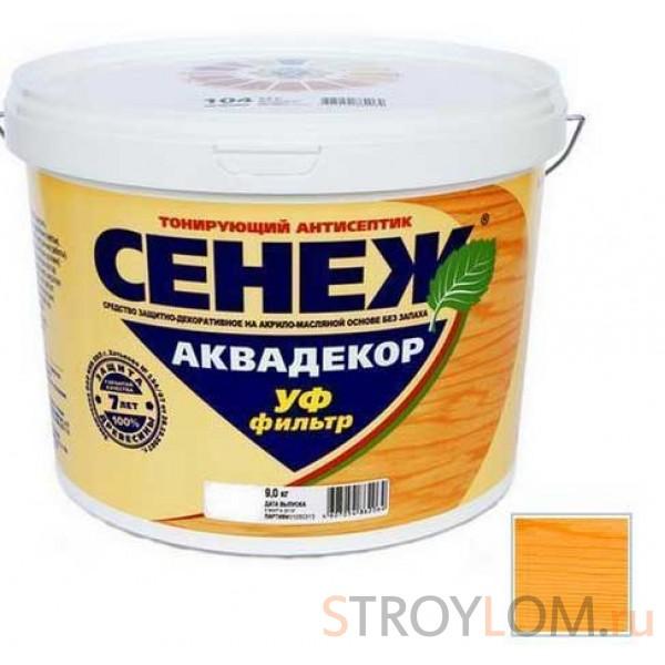 Антисептик тонирующий Сенеж Аквадекор 105 Калужница 2.5 кг