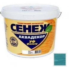 Антисептик тонирующий Сенеж Аквадекор 116 Лагуна 2,5 кг