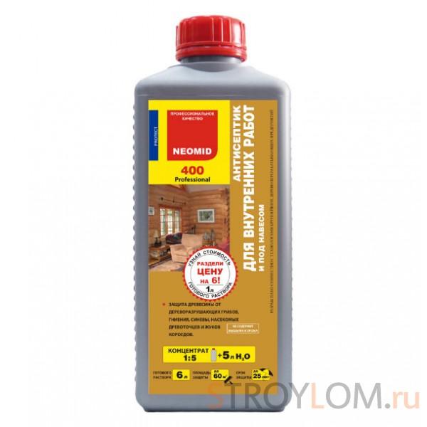 Антисептик - защита древесины от грибка и плесени NEOMID 400 для внутренних работ 1 л