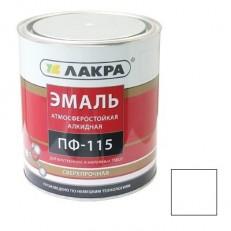 Эмаль Лакра ПФ-115 белая 0,9 кг