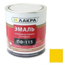 Эмаль Лакра ПФ-115 желтая 1 кг