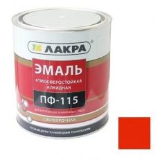 Эмаль Лакра ПФ-115 красная 1 кг