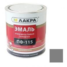 Эмаль Лакра ПФ-115 серая 1 кг