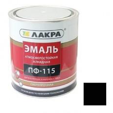 Эмаль Лакра ПФ-115 черная 0,9 кг