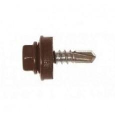 Саморез кровельный Grand Line 5,5х19 мм Ral 8017 шоколадно-коричневый