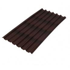 Лист кровельный волнистый Черепица Ондулин коричневый 960х1950 мм