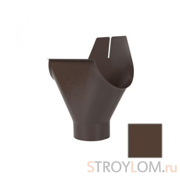 Воронка желоба Aquasystem 125/90 RAL8017 коричневая