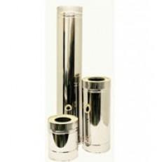Сэндвич труба для дымохода нержавеющая сталь 1 мм D230х150 мм L1 м