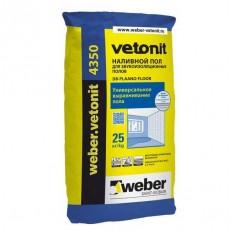 Пол наливной для звукоизоляционных полов Weber.Vetonit 4350 25 кг