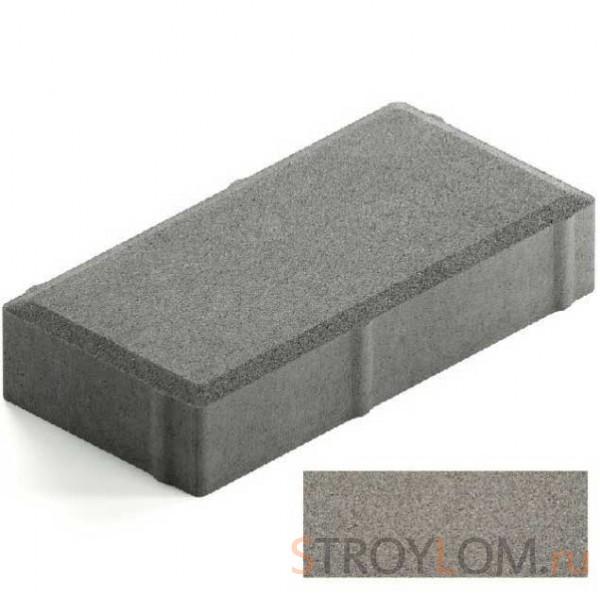 Брусчатка Steingot Лайт 40 из серого цемента с полным прокрасом прямоугольник серая 200х100х40 мм