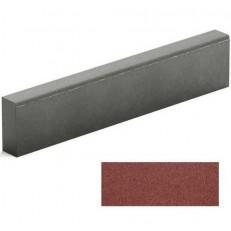 Бордюр тротуарный Steingot из серого цемента красный 1000х200х80 мм
