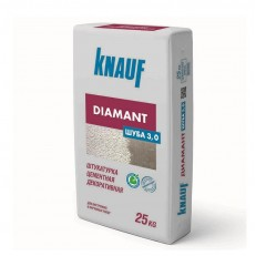 Штукатурка цементная декоративная Knauf Диамант Шуба 3 мм белая 25 кг