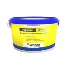 Штукатурка Weber.Pas Akrylat Короед 2 мм белая 25 кг