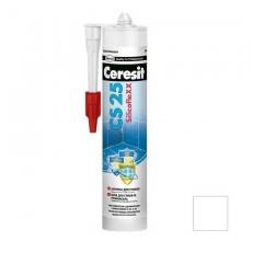 Затирка-герметик силиконовая Ceresit CS 25 белая 0,28 л
