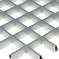 Потолок грильято Cesal Классический Эконом металлик 50х50х40 мм