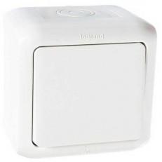 Выключатель кнопочный Legrand Quteo 782305 IP 44 без фиксации белый