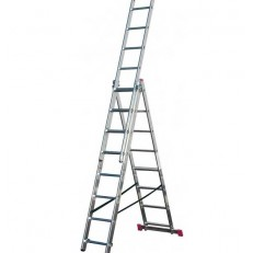 Лестница трехсекционная алюминиевая Krause Corda 013408 3х10