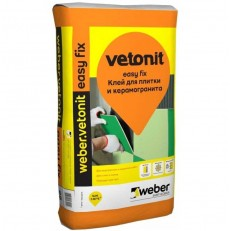 Клей для плитки и керамогранита Weber.Vetonit Easy Fix 25 кг