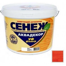 Антисептик тонирующий Сенеж Аквадекор 108 Черешня 9 кг