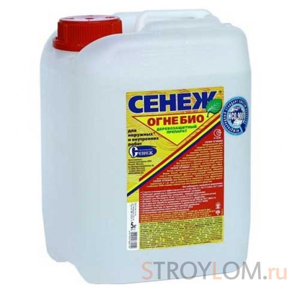 Деревозащитный препарат Сенеж Огнебио 5 кг