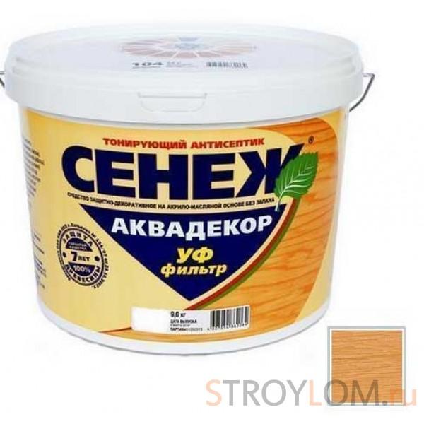 Антисептик тонирующий Сенеж Аквадекор 112 Дуб 0.9 кг