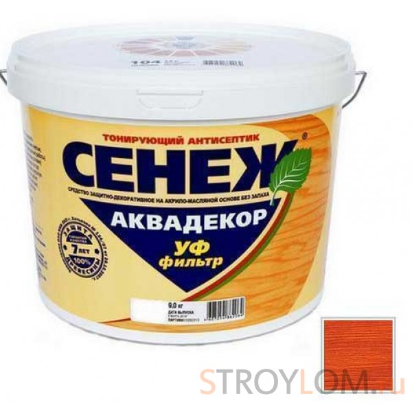 Антисептик тонирующий Сенеж Аквадекор 110 Махагон 2.5 кг