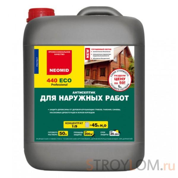 Антисептик - защита древесины от грибка и плесени NEOMID 440 ECO для внутренних работ 5 л