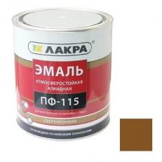 Эмаль Лакра ПФ-115 коричневая 1 кг