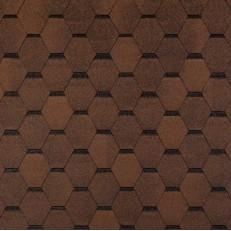 Черепица гибкая Tegola Top Shingle Смальто коричневая