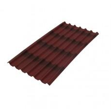 Лист кровельный волнистый Черепица Ондулин красный 960х1950 мм