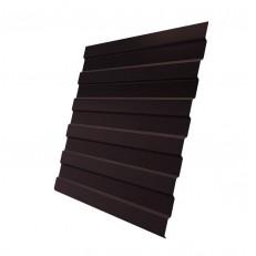 Профнастил С8 Grand Line Optima Pe 0,4 мм RAL 8017 шоколадно-коричневый
