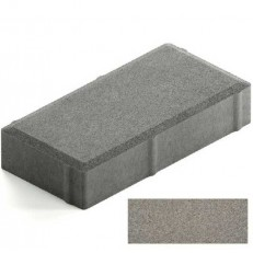 Брусчатка Steingot Практик 60 из серого цемента с полным прокрасом прямоугольник серая 200х100х60 мм