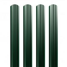Штакетник М-образный Grand Line Satin 0,5 мм фигурный Ral 6005 резка