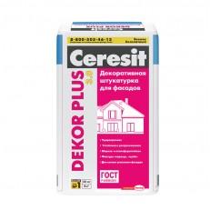 Штукатурка цементная декоративная для фасада Ceresit Dekor Plus 25 кг