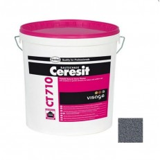 Штукатурка декоративная Ceresit CT 710 Visage Granite Finland Silver 20 кг