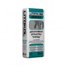 Штукатурка цементная декоративная Litokol Litotherm Grafica Короед 1,8 мм белая 25 кг