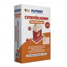Раствор термостойкий Plitonit Суперкамин Термокладка красный 20 кг